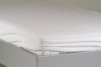 BNP colchones ajustable (funda Breezy de Top – Muletón con separador, algodón, blanco