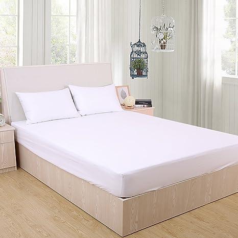 Deconovo Terry - Protector de colchón impermeable, profundo, sábana bajera ajustable