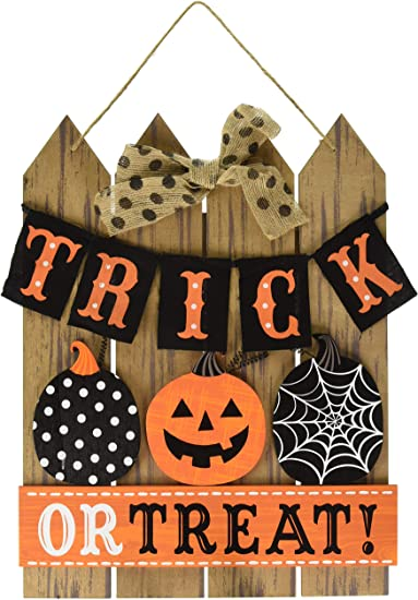 Amscan Trick Or Treat Halloween Sign For Door Or Home Décor Toys Games Amazon Com