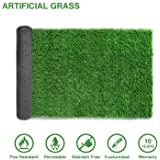 LITA Premium Synthetic Artificial Grass Turf 10mm Pile Height, High Density Fake Faux Grass Turf, Natural and Realistic Looking Garden Pet Dog Lawn(1mx3m)