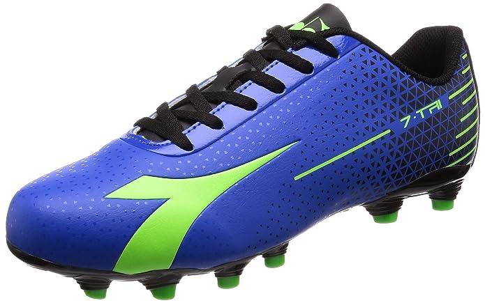 Diadora 7 Tri Mg14 Scarpe da Calcio Uomo Blu Azzurro Verde Acido