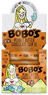 product image for Bobo's Oat Bars (Peanut Butter Chocolate Chip, 12 Pack of 3 oz Bars) Gluten Free Whole Grain Rolled Oat Bars - Great Tasting Vegan On-The-Go Snack, Made in the USA
