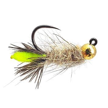 One dozen 12 Barbless Bead Head Copper Johns size 18 fishing flies