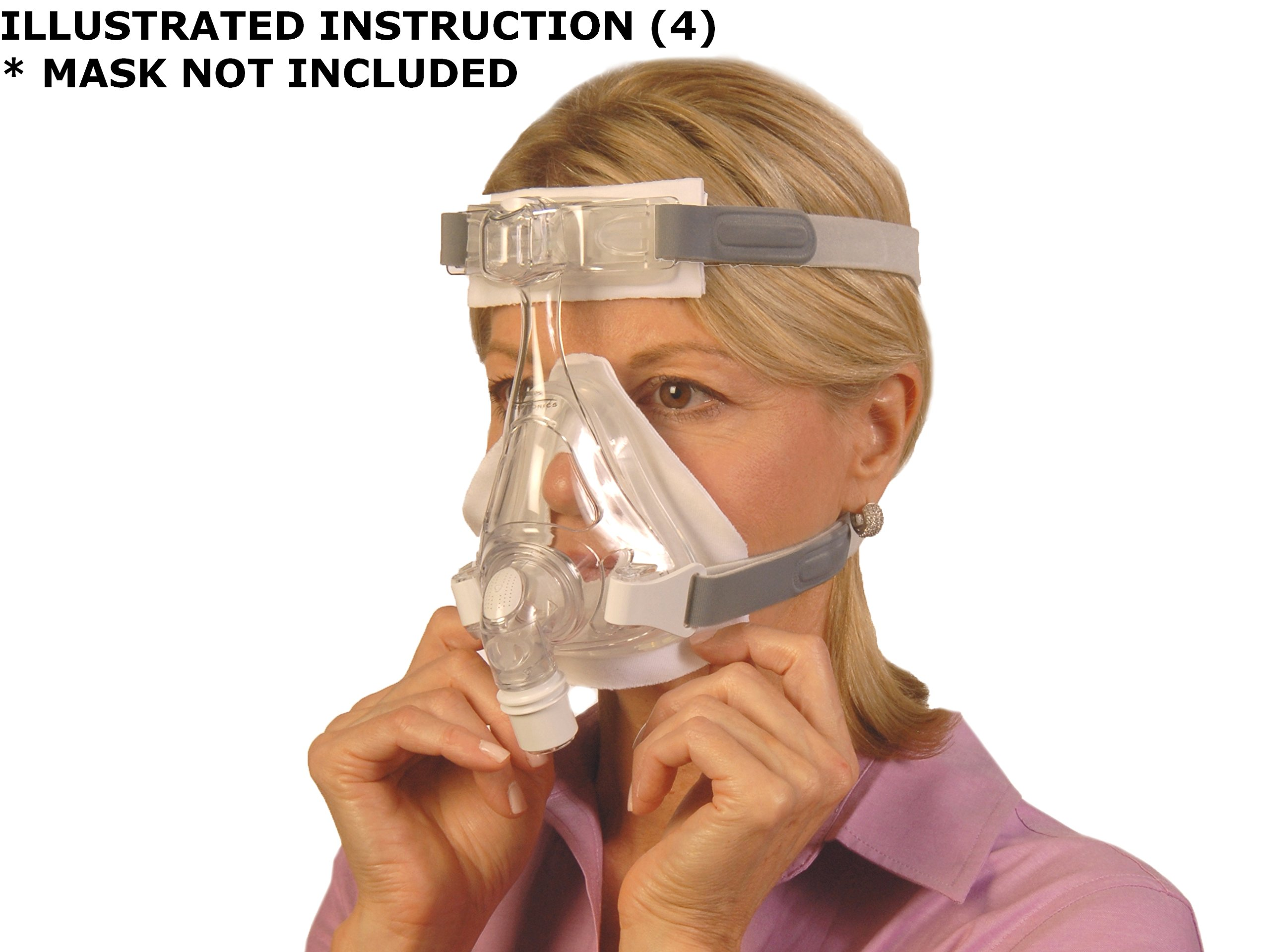 RemZzzs Full Face CPAP/BiPAP Mask Liners for ResMed & Respironics (Medium (K2))