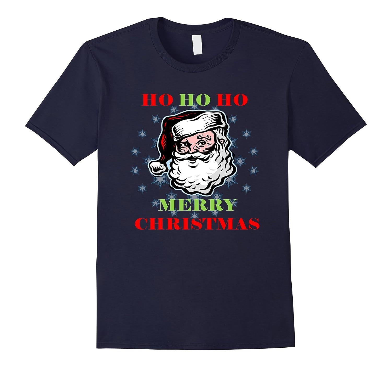 MERRY CHRISTMAS T SHIRT-HO HO HO-CLASSIC SANTA TEE SHIRT-ANZ