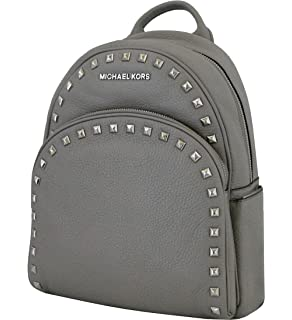 99c86c971502 Michael Michael Kors Abbey Pearl Grey Medium Frame out Stud Leather Backpack