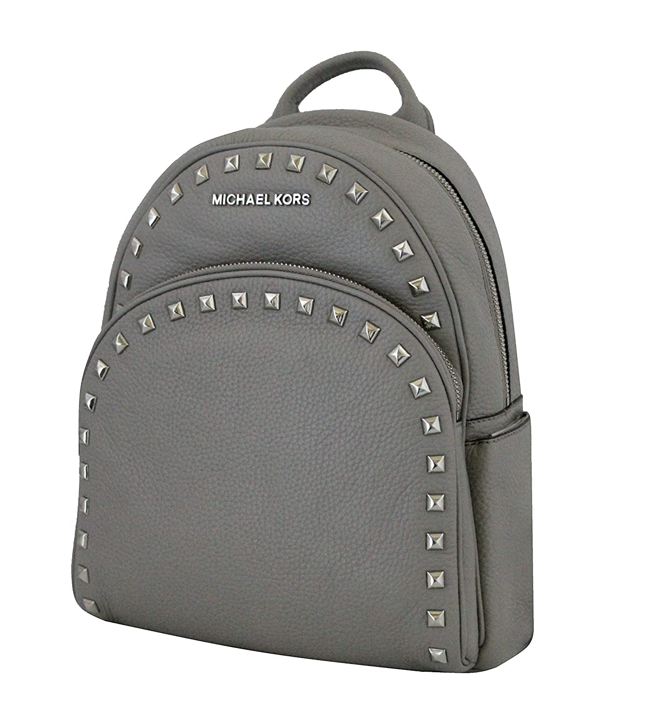 Amazon.com | Michael Michael Kors Abbey Pearl Grey Medium Frame out Stud  Leather Backpack | Backpacks