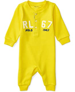 3f4272d30d Amazon.com: RALPH LAUREN Baby Boys Cotton Jersey Rugby Coverall ...