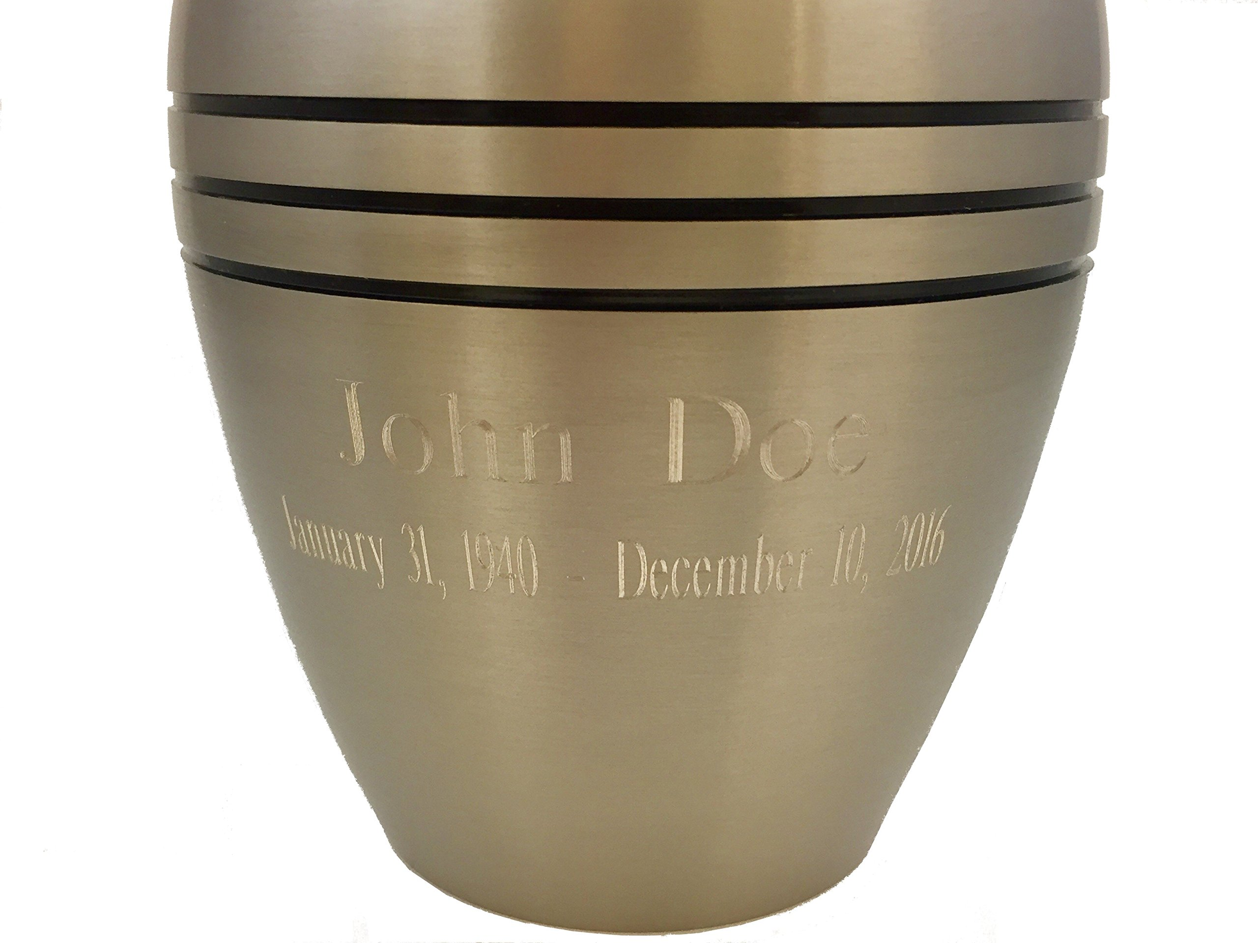 Beautiful Life Urns Dignity Pewter Custom Cremation Urn Engravable Funeral Urn (Extra Small)