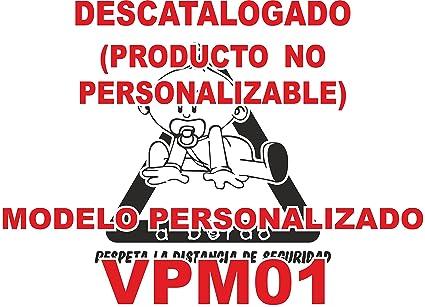 Pegatina bebé a bordo personalizada VPC01. DISEÑADO, VENDIDO Y ENVIADO POR VPM ORIGINAL. 100% PRODUCTO ESPAÑOL. NO COMPRAR AL VENDEDOR