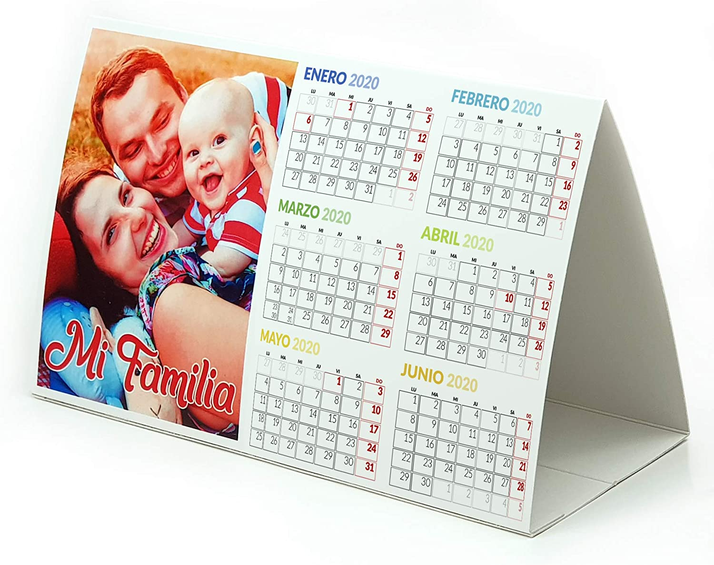 LolaPix Calendario de Mesa SEMESTRAL Personalizado con Foto ...