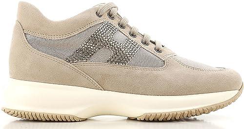Hogan Interactive Sneakers Donna Hstrass in Camoscio con Inserti in Tessuto  Tecnico (35 29442a4e694