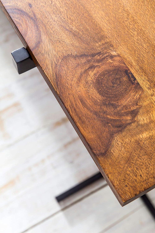 Metallo Wohnling Minerva S05 Tavolino Legno Massello Nero Rovere