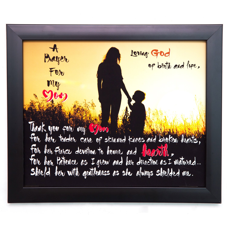 Amazon.com: A Prayer For My Mom, 10x12 Wood Wall Art Plaque ...