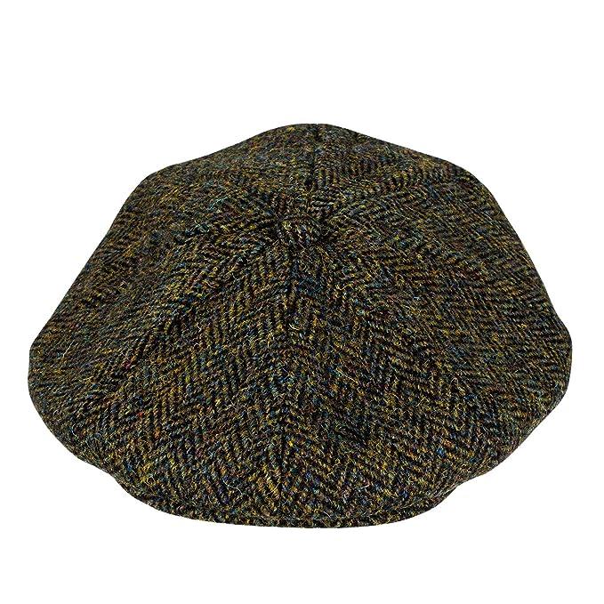 60f669c0 Heather Hats Men's Arran Harris Tweed 8-Pc Cap Hat: Amazon.co.uk: Clothing