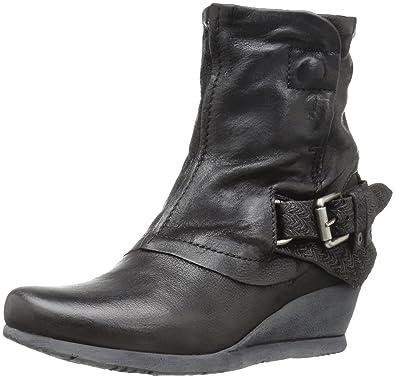 Miz Mooz Women's Margie Ankle Bootie, Black, 40 M EU (9-9.5