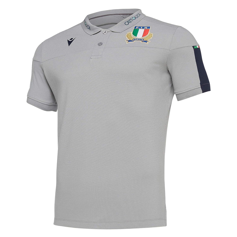 Macron Italia Rugby Polo 6 Nazioni Fir - 58100135 (M): Amazon.es ...