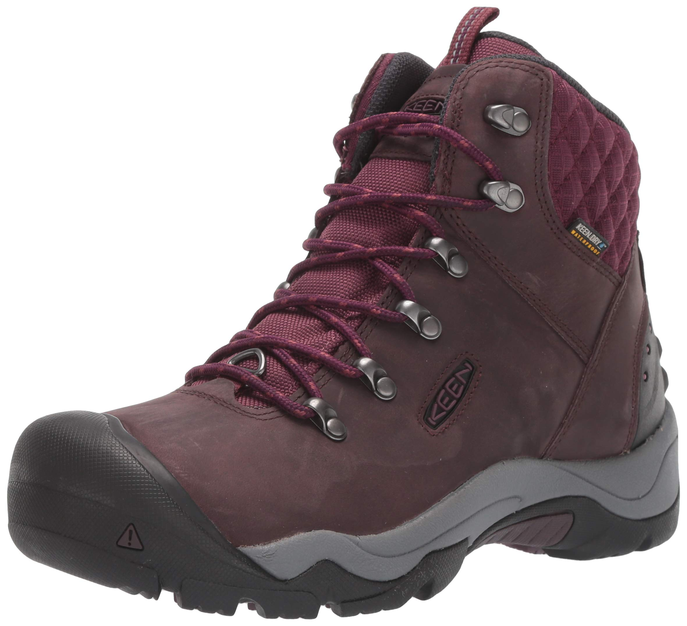 KEEN Women's Revel III Boot, Peppercorn/Eggplant, 7 M US by KEEN