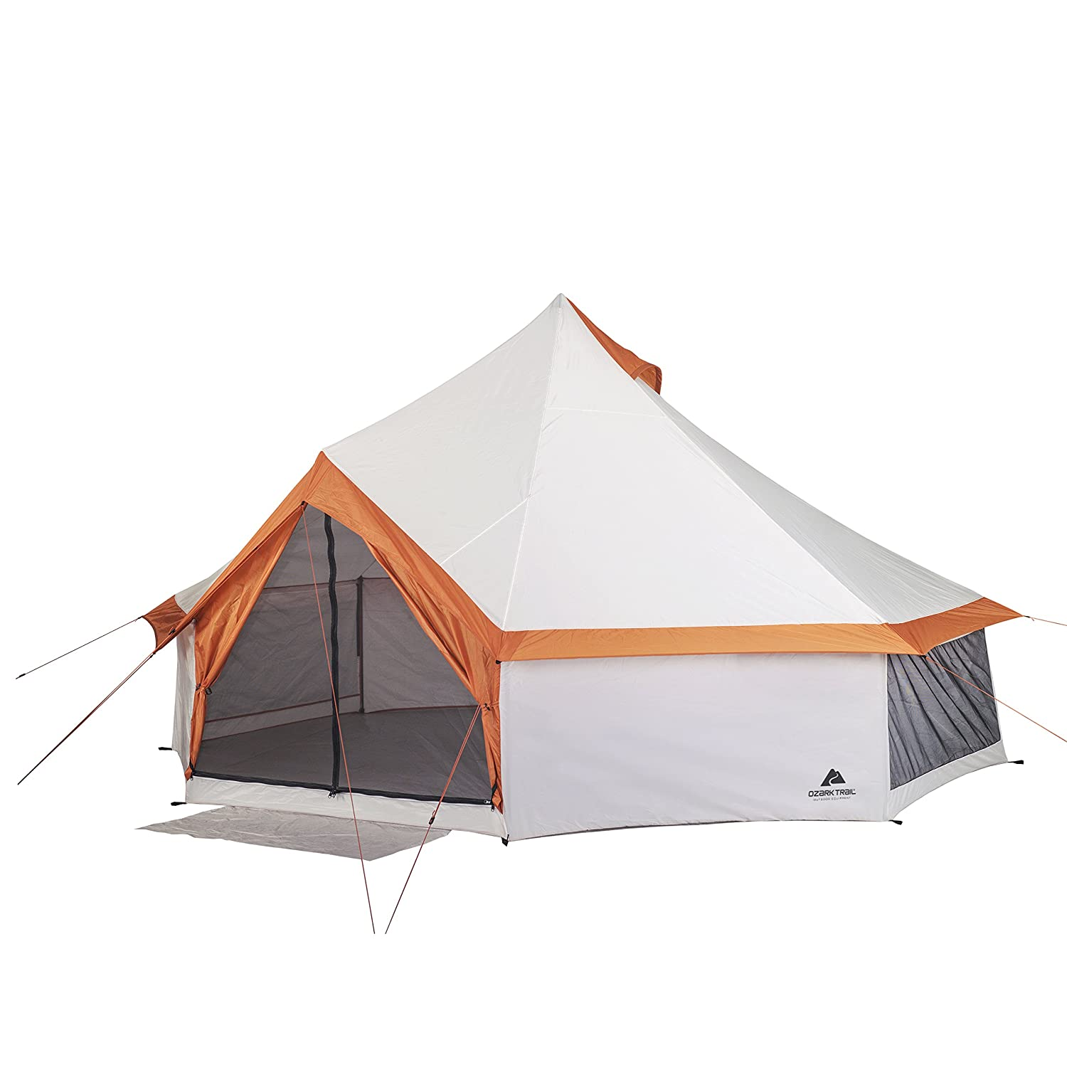 best cheap 7ee3b 7012e Fast and Easy to Set up,Ozark Trail 8 Person Yurt Tent With Hanging Media  Sleeve,Table and Mud Mat,Excellent Choice for Camping,Family Outings,Group  ...