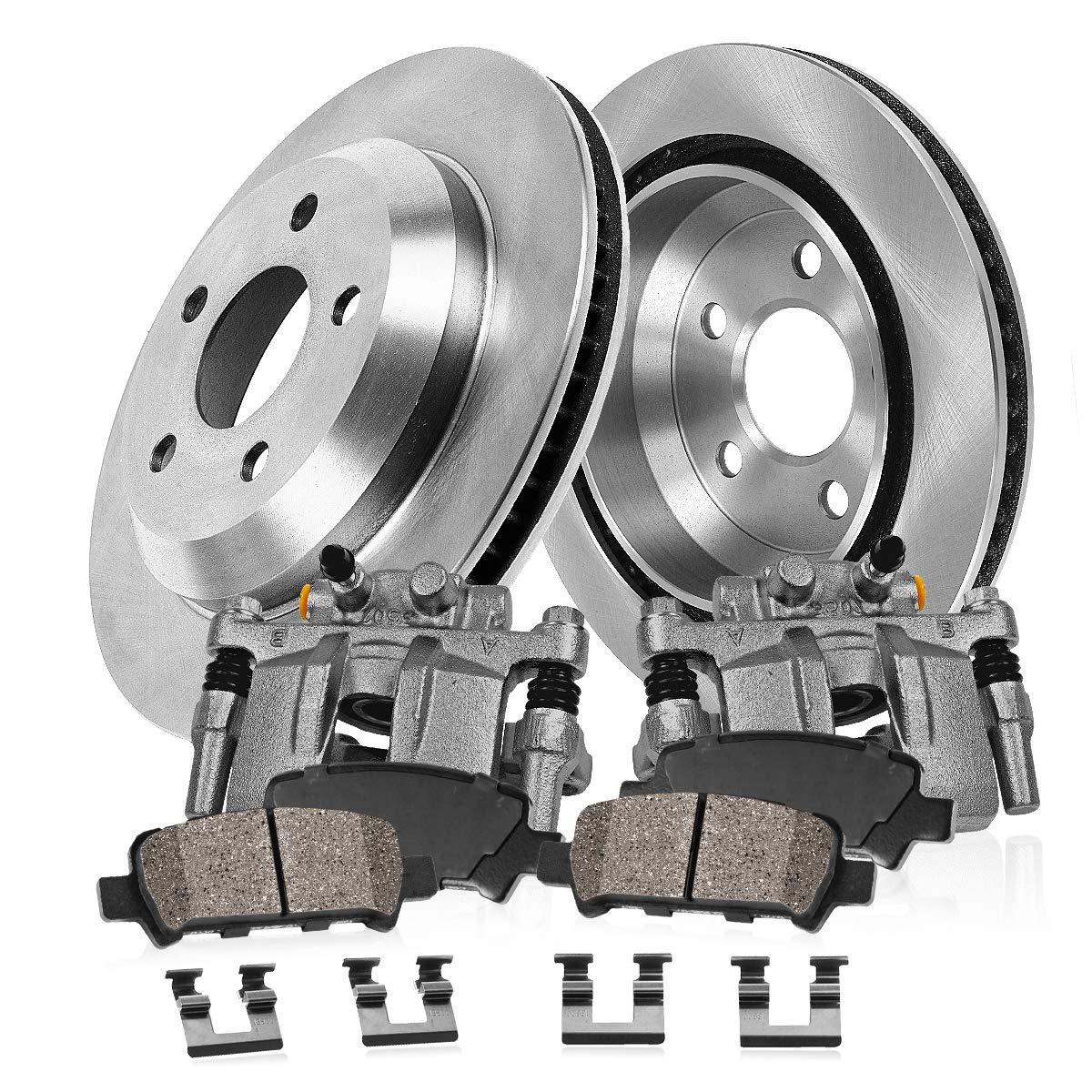 REAR Original Remanufactured Calipers + CCK02559 OE Rotors + 4 2 Low Dust Ceramic Brake Pads 2