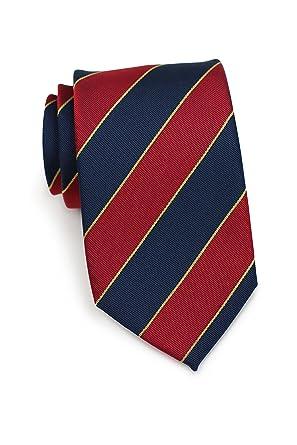 Herren-accessoires Next 100% Silk Mens Beige Striped Wide Fit Tie