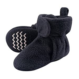Hudson Baby Unisex Baby Cozy Fleece Booties with Non Skid Bottom