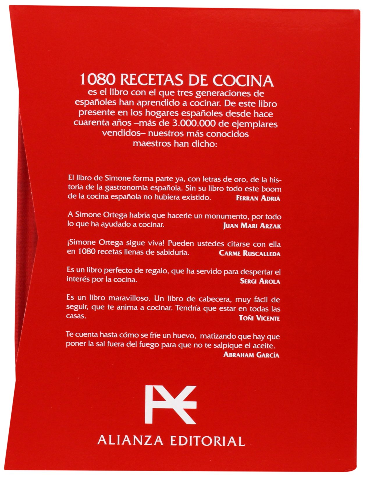 1080 recetas de cocina / 1080 cooking recipes (Spanish Edition): Simone  Ortega Klein: 9788420678474: Amazon.com: Books