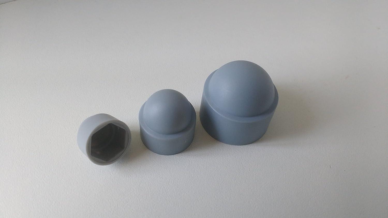 Abdeckkappe Schl/üsselweite 22mm Farbe grau 25 St/ück Sechskant Schutzkappe M14