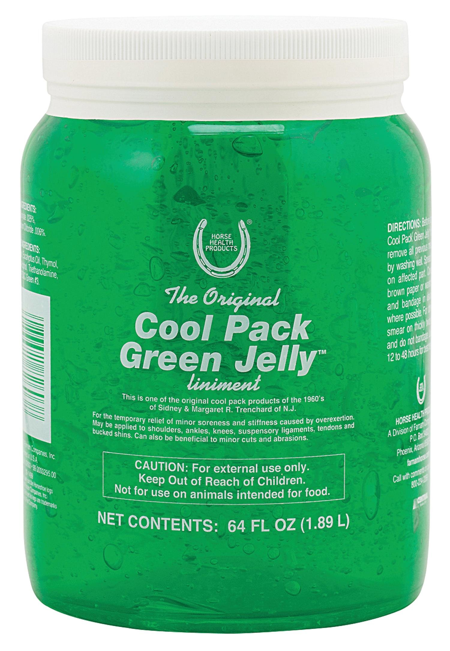 FARNAM CO HORSE HEALTH Cool Pk Green Jelly Liniment For Horses Green 64 OUNCE