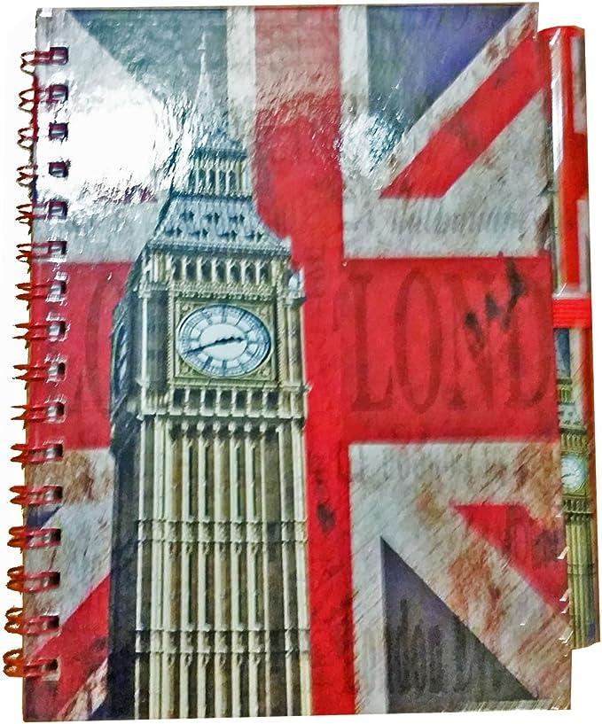 Cuaderno y bolígrafo, diseño del reloj Big Ben de Londres Cuaderno ...