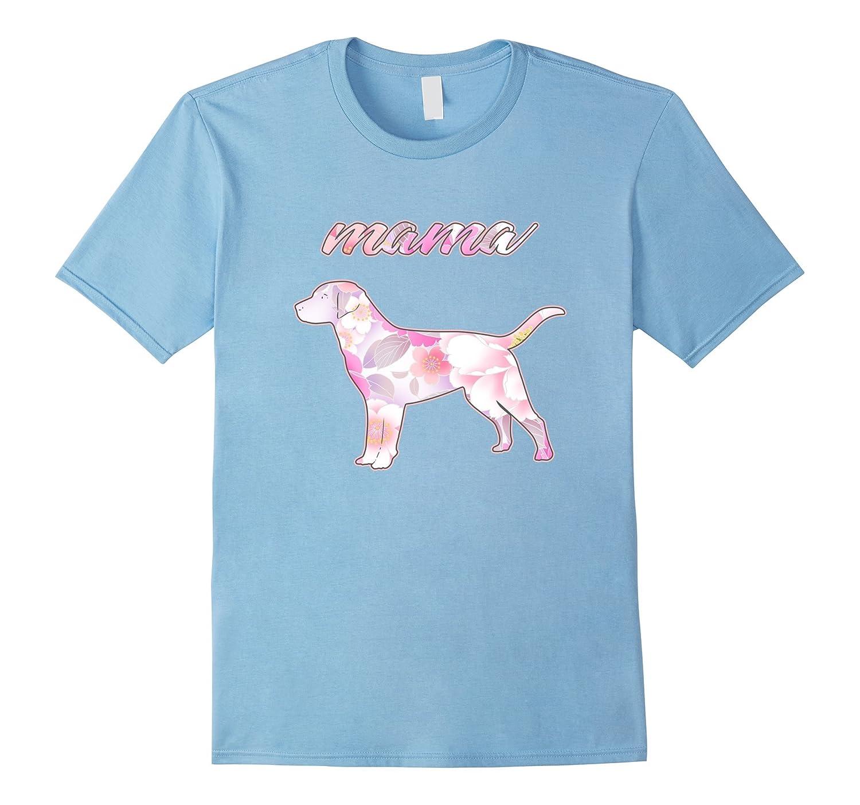Mama Dog Lover Flower T-Shirt-Vaci