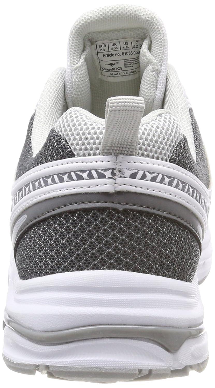 Kangaroos Kr-Run 5, Zapatillas Unisex Adultos, Blanco (White/Vapor Grey 0001), 41 EU
