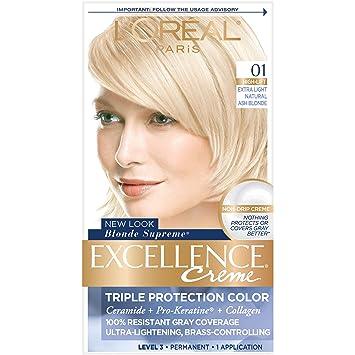 Amazon Com L Oreal Paris Excellence Creme Permanent Hair Color 01