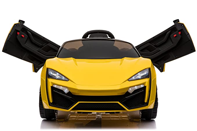 Toy House Fast n Furious Lykan Hypersport Car Rechargeable Battery Operated Ride-on for Kids(2 to 7yrs) , Yellow Bikes, Trikes & Ride-Ons at amazon