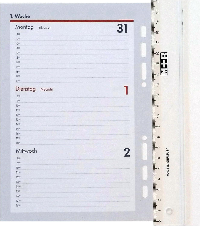 Ersatzkalendarium Kalender Einlagen Zeitplaner Time-Planer Jahresplan A5 2020-1 Woche 2 Seiten A5 Kalendereinlage 2020 f/ür ALMADIH Ledermappen: A5 Terminplaner /& Organizer - 1 Woche auf 2 Seiten