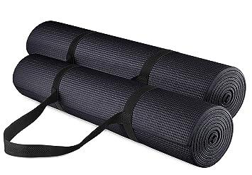 Amazon.com: Alfombrilla de yoga gruesa multiusos, ligera ...