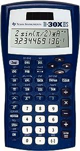 Texas Instruments TI-30X IIS 2-Line Scientific Calculator, Dark Blue