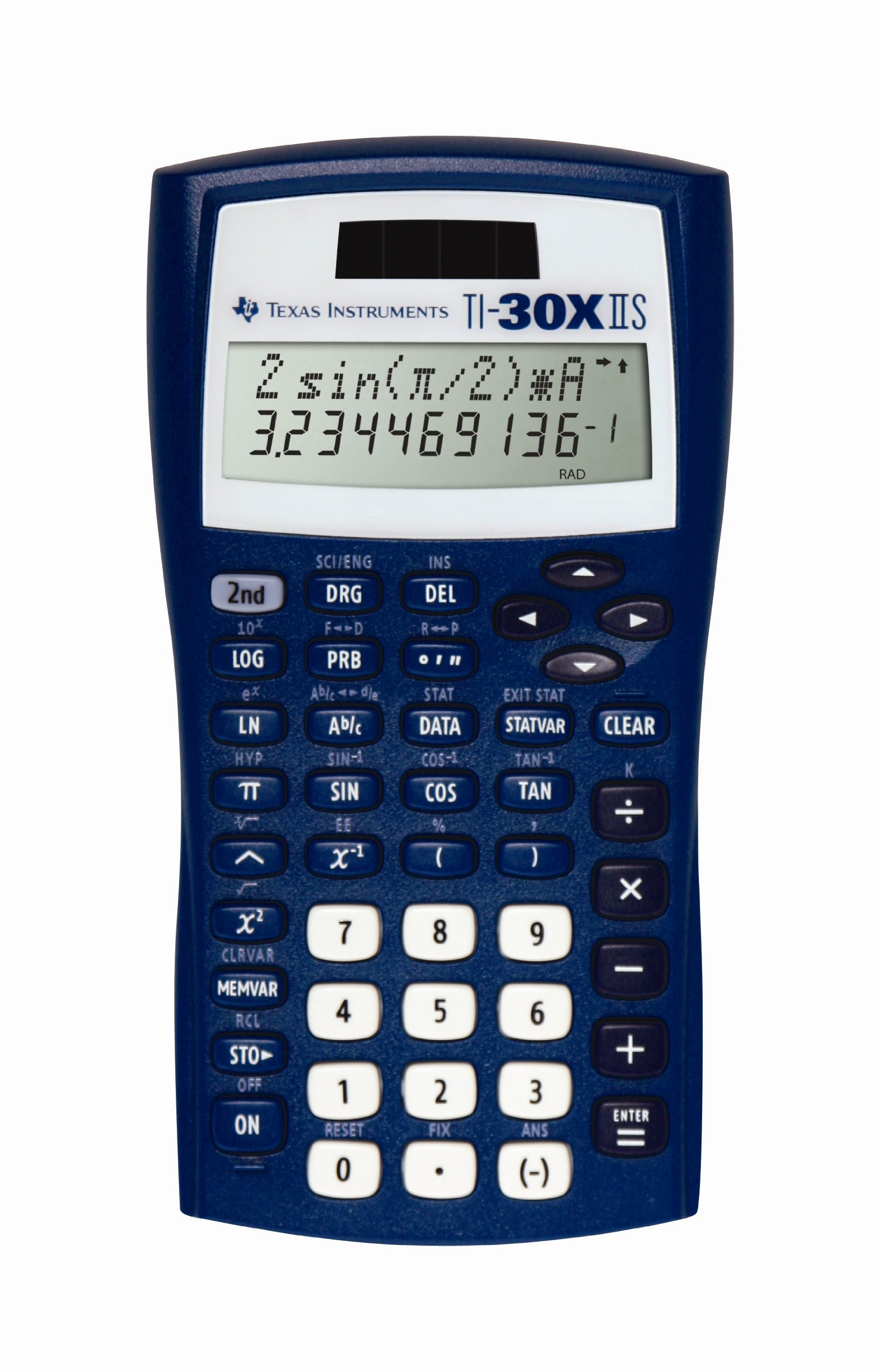 Texas Instruments TI-30X IIS 2-Line Scientific Calculator, Dark Blue by Texas Instruments