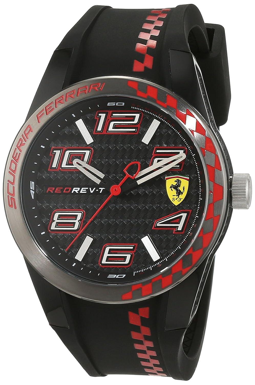 Scuderia Ferrari Orologi Herren-Armbanduhr REDREV T Analog Quarz Silikon 0830336