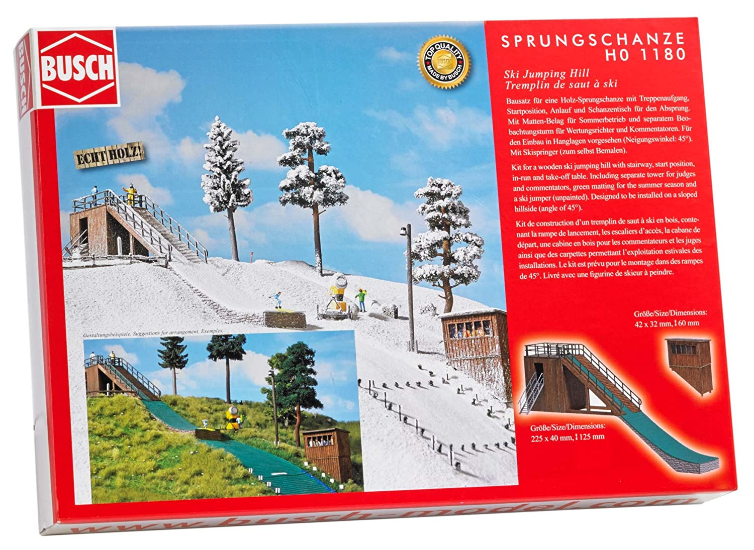 Le Treppenaufgang amazon com busch 1180 ski jumping hill ho scale scenery kit toys