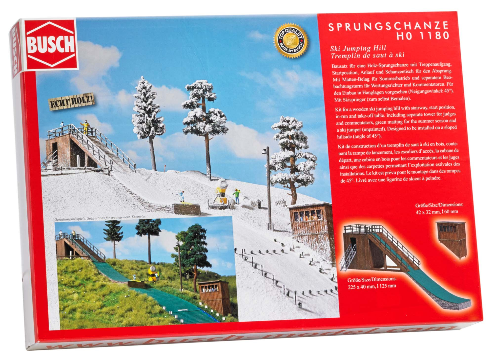 Busch 1180 Ski Jumping Hill HO Scale Scenery Kit