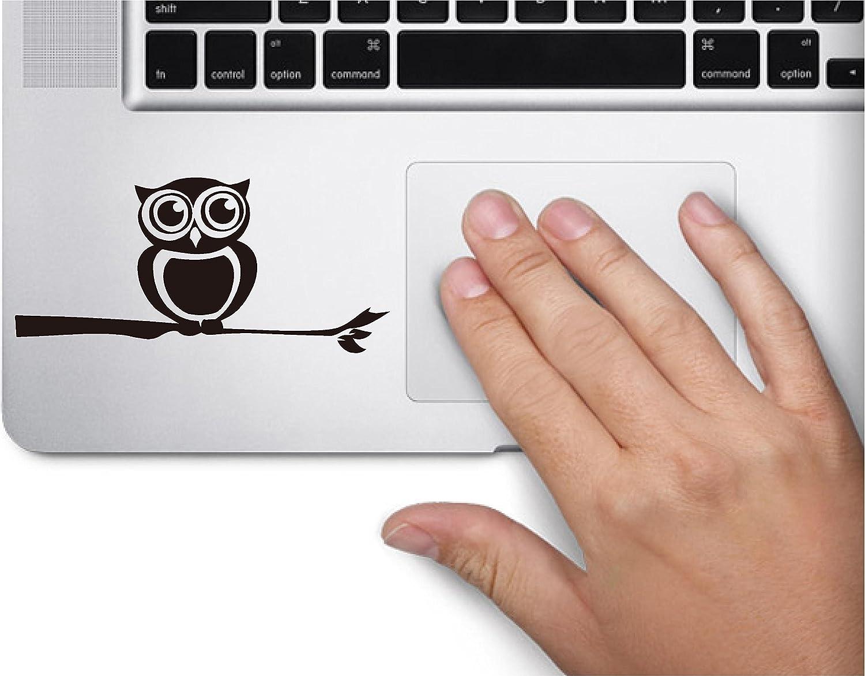 Cute Owl on Branch Left Side Symbol Decal Funny Laptop Skin Macbook Trackpad Keypad Sticker Window