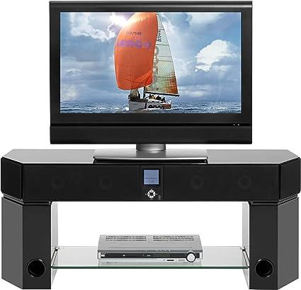 lenco tbs 5001 meuble tv avec home cinema 5 1 systeme de haut parleurs amplificateur