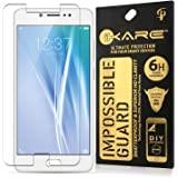 Vivo V5s Tempered, iKare Impossible Fiber Tempered Glass Screen Protector for Vivo V5s (REUSABLE, ULTRA CLEAR, REAL SHOCK PROOF, UNBREAKABLE)