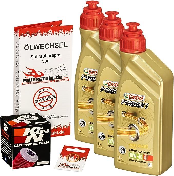 Castrol 10w 40 Öl K N Ölfilter Für Kawasaki Zrx 1100 97 00 Zrt10c Ölwechselset Inkl Motoröl Filter Dichtring Auto