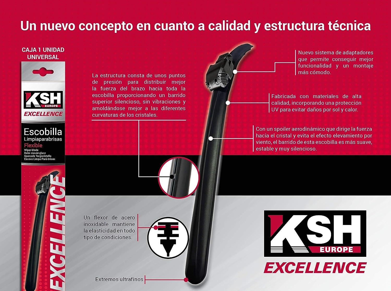 Escobilla Limpiaparabrisas Flexible - KSH Excellence 60 cm - 3210.0170600-1 unidad: Amazon.es: Coche y moto