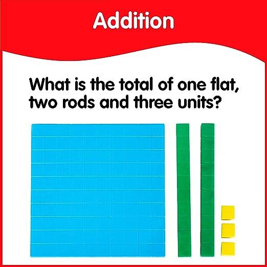 ETA Cuisenaire Base 10 Flat Green Math 100 Counting Soft Educational Homeschool
