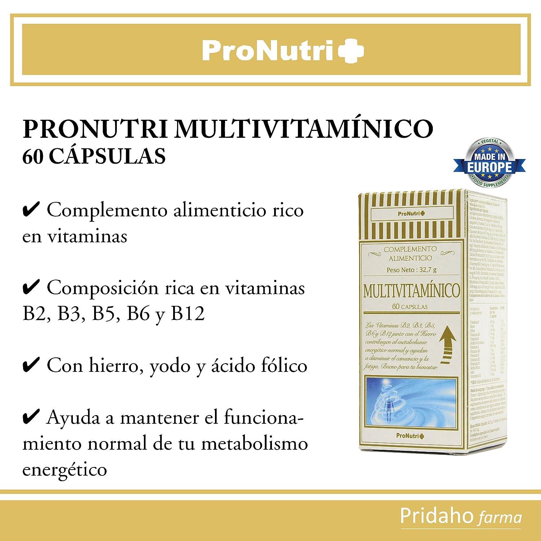 PRONUTRI - PRONUTRI Multivitamínico 60 cápsulas: Amazon.es: Salud y cuidado personal
