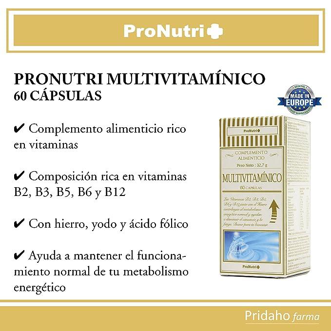 PRONUTRI - PRONUTRI Multivitamínico 60 cápsulas: Amazon.es ...