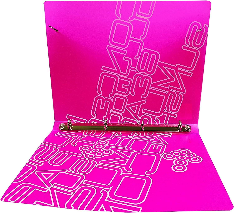 Carpeta con 4 anillas color rosa DMM Supplies 38644